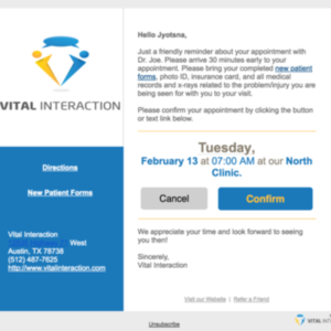 Vital Interaction - cancellation window